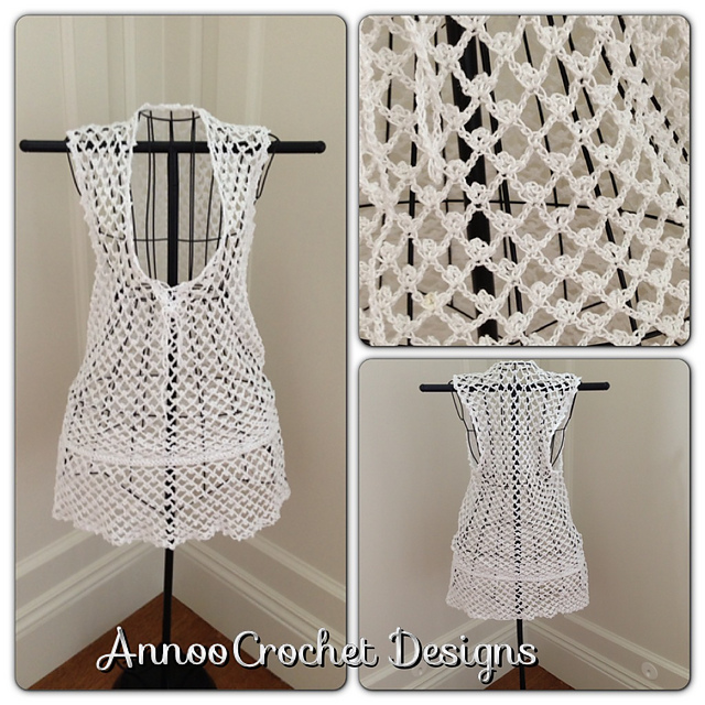 Crochet Cover Up : tangled happy: Crochet Beach Cover Up