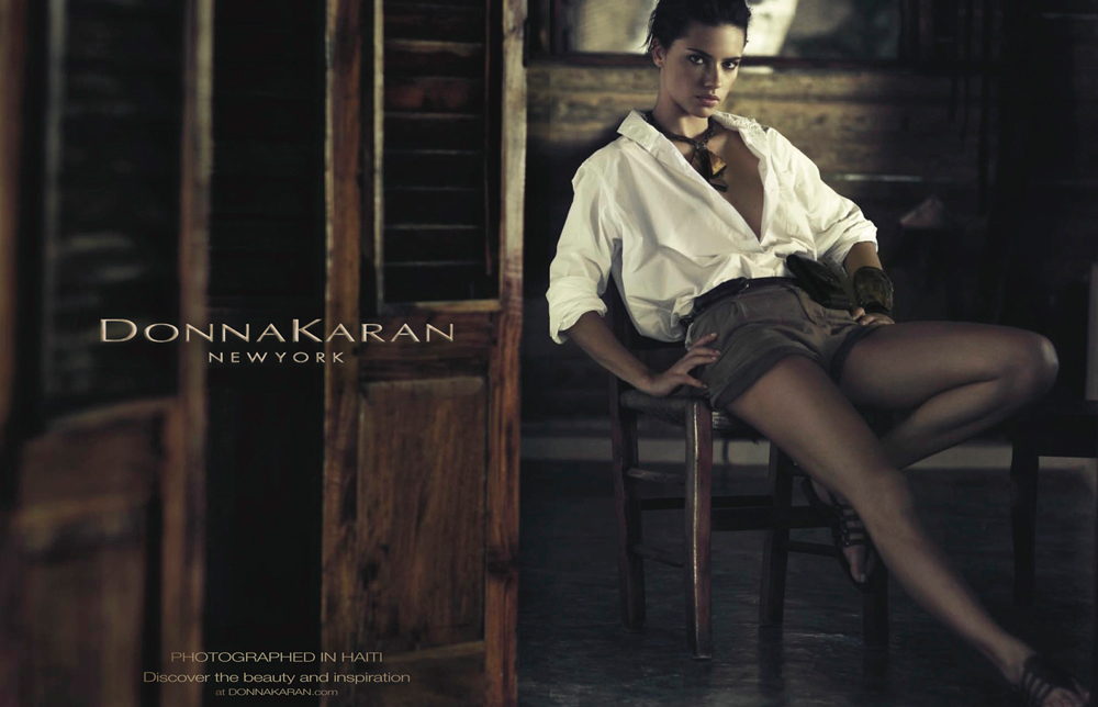 Adriana Lima photographed by Russel James for Donna Karan Spring/Summer 2012 campaign / white shirt in fashion editorials / short history of white shirt / wardrobe essentials / via fashioned by love british fashion blog
