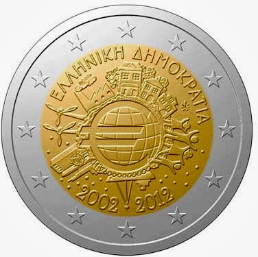 2 euro Greece 2012, Ten years of Euro cash