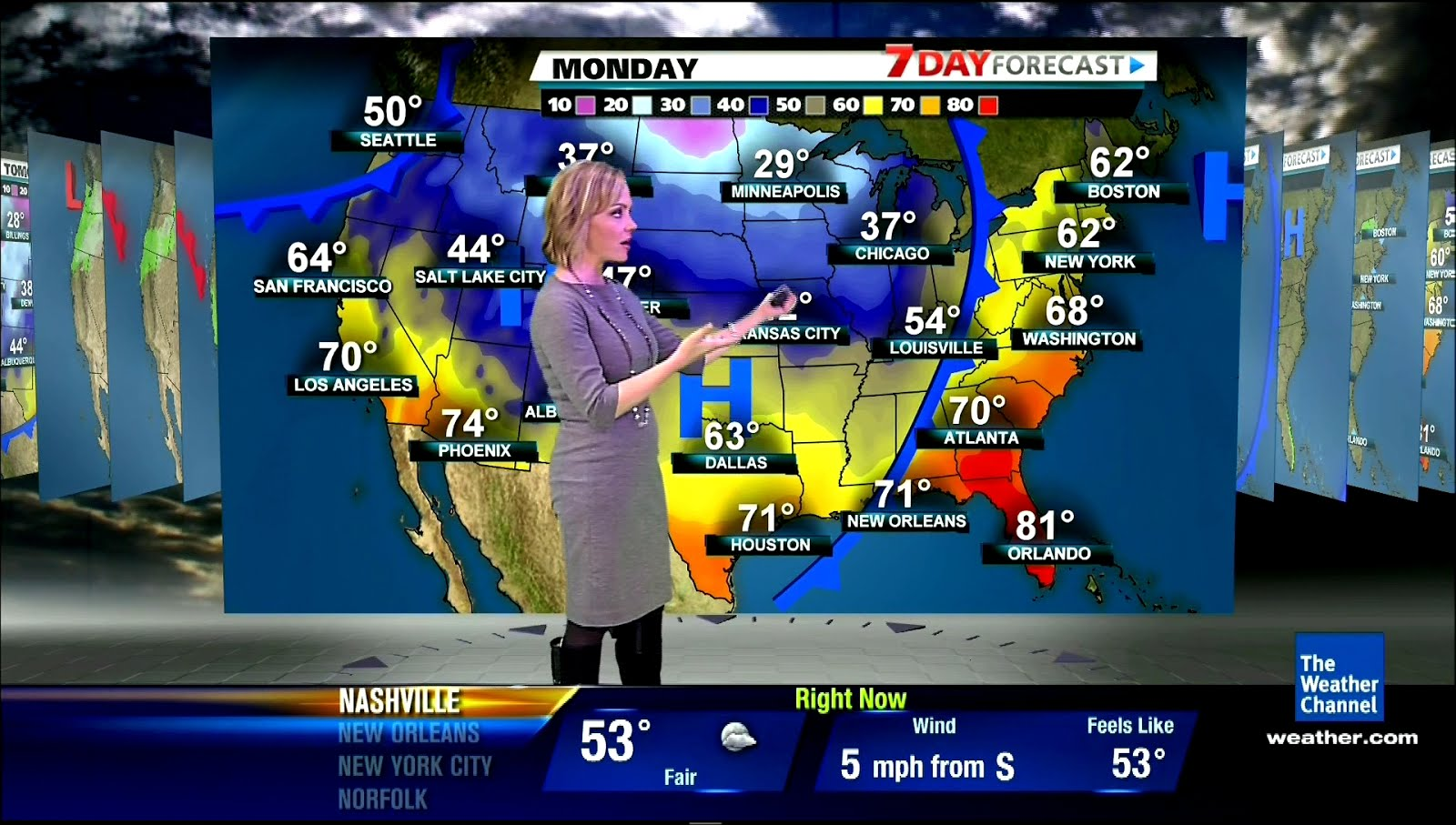 the appreciation of booted news women blog   the weather channel u0026 39 s julie martin wears tall black