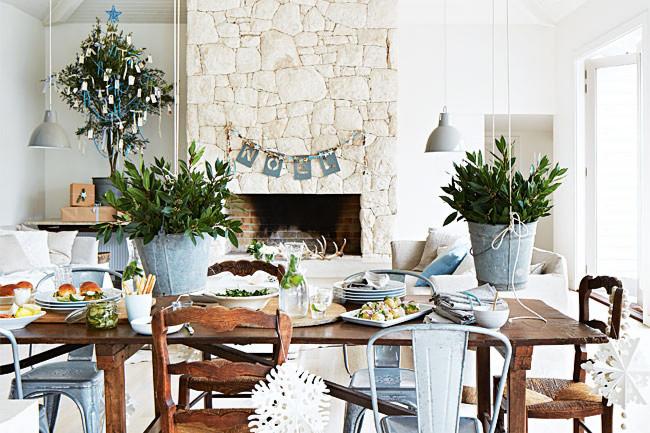 Una Navidad desenfadada y fresca, en una casa junto al mar