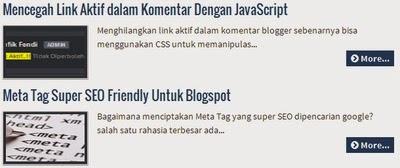 Pasang Auto Readmore Serta Gambar Tanpa Javascript