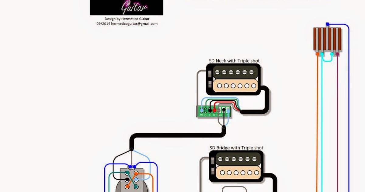 Hermetico Guitar  Wiring Diy  Hermetico U0026 39 S Hh X61 Sd Mod