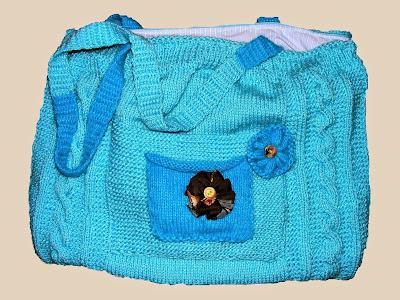 geanta handmade unicat turcoaz