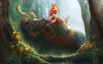 Princesa del bosque encantado (Fondo de 1920x1200px)