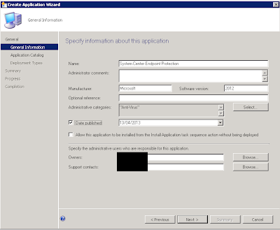 Install System Center Endpoint Protection (SCEP) using the SCCM Software Catalog 2