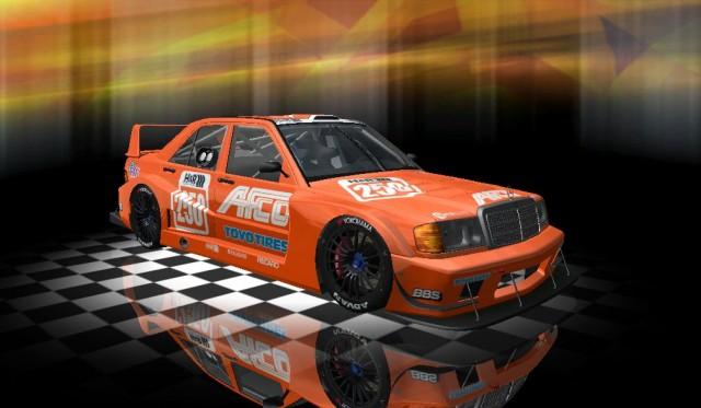 nuevo coche para el mod rFactor Mercedes190e Evo2 for GT Shift 2