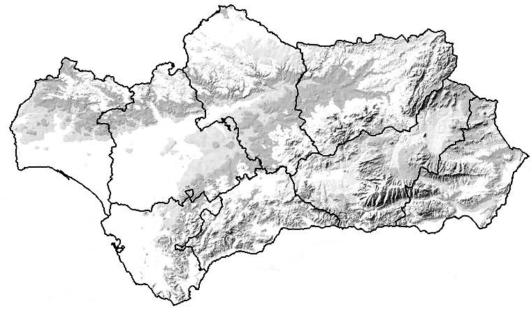mapa fisico mudo de andalucia para imprimir