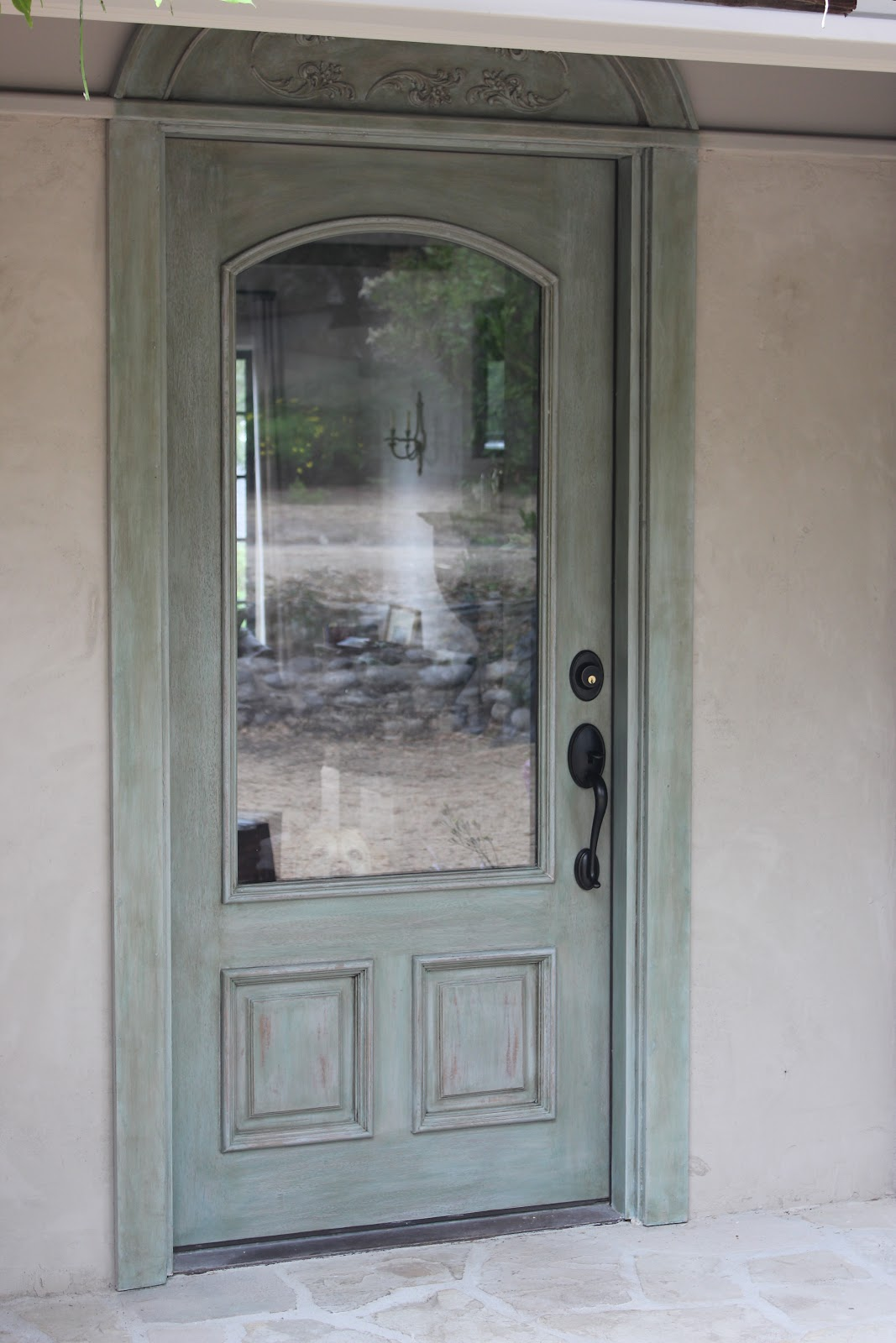 1600 #5A6971 European Farmhouse Charm: My Recycled Front Door Makeover pic European Exterior Doors 46111067