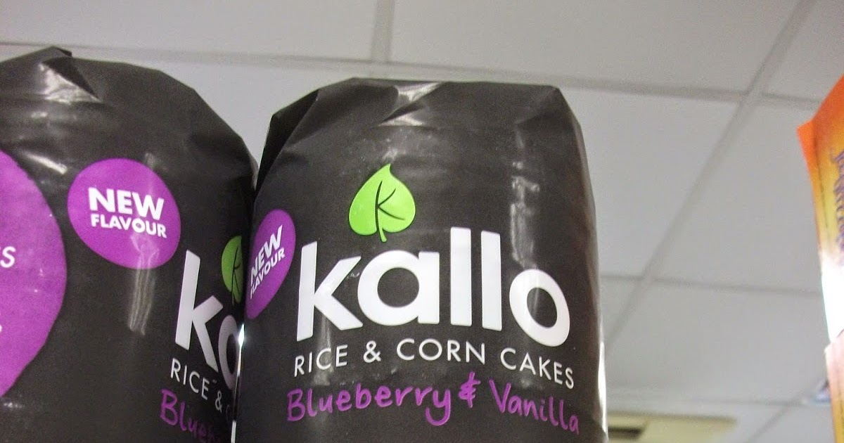 Kallo Rice Corn Cakes Blueberry Vanilla