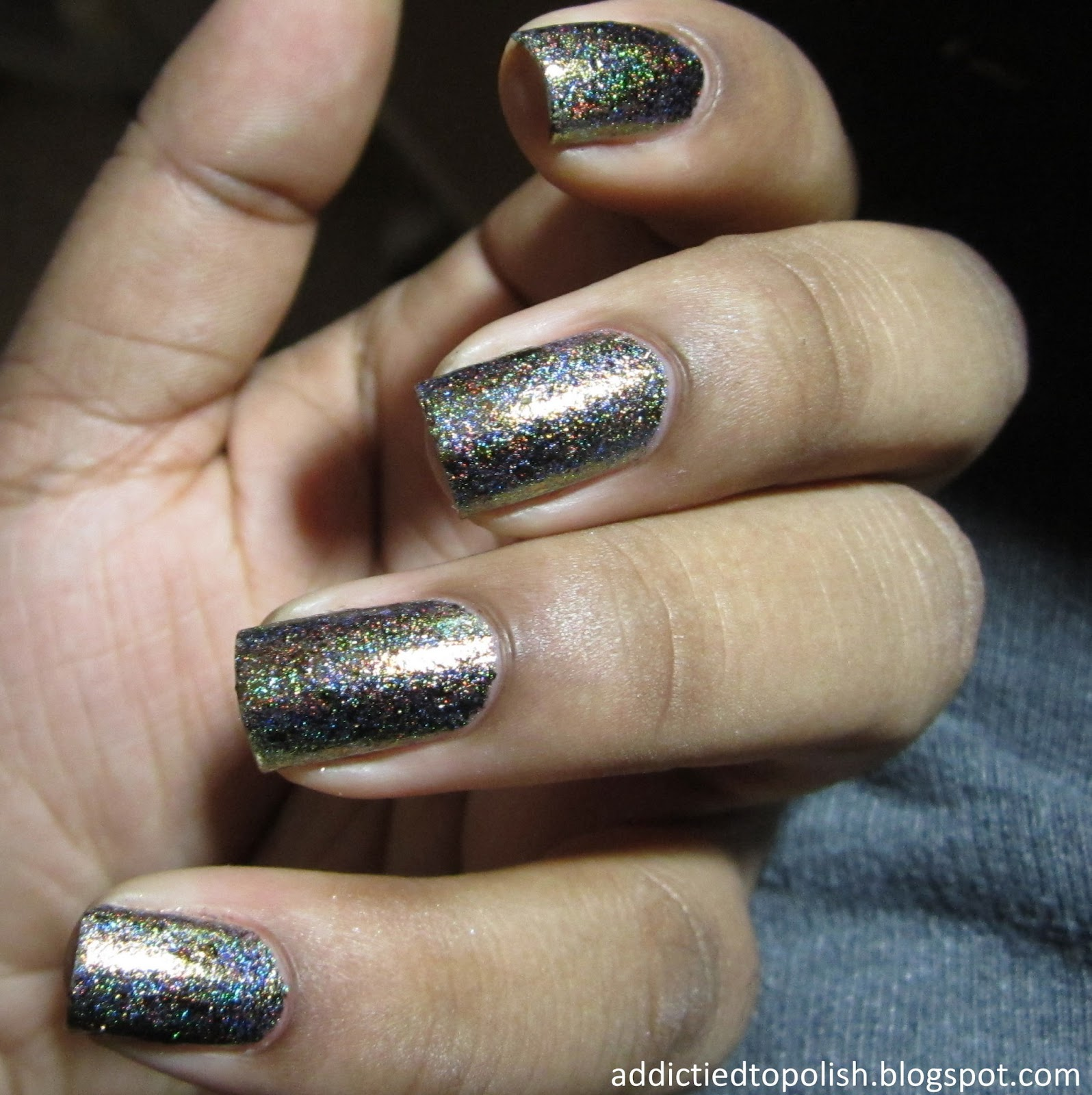 Indigo Bananas Quantum Gravity Holo Chrome Flakies
