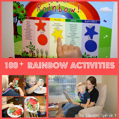 100+ Rainbow Activities for Kids featured at The Educators' Spin On It