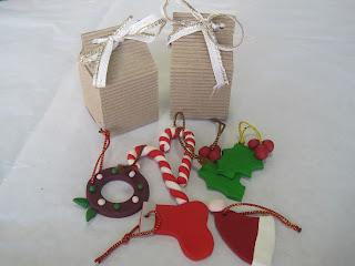 Adornos para el árbol y cajitas para tus pequeños regalos