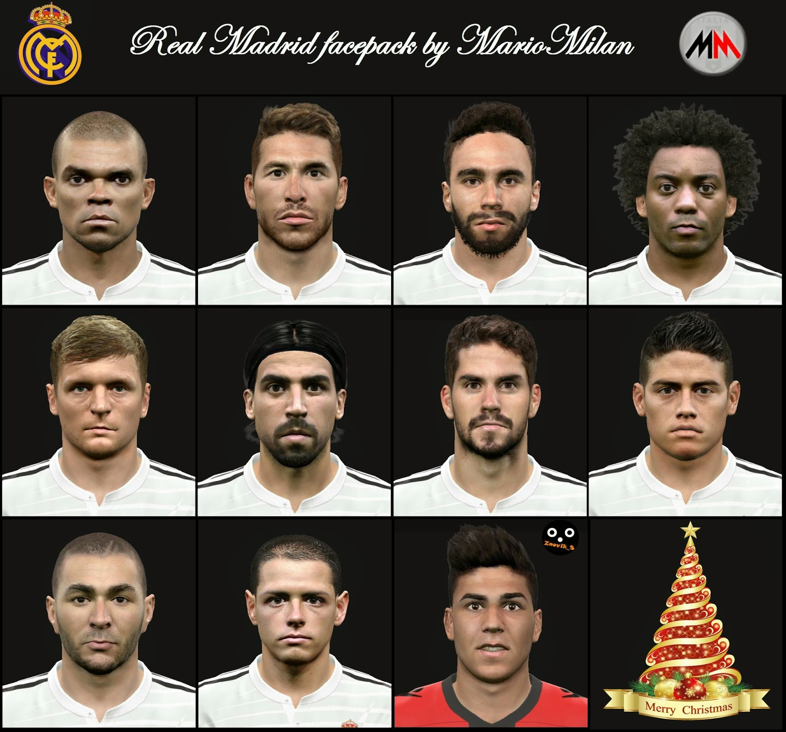 PES 2015 Real Madrid Facepack by MarioMilan