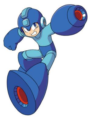 Elijamos nuestra mascota y slogan Megaman