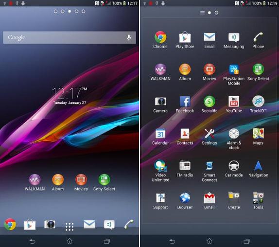 Sony Xperia ZU screenshot