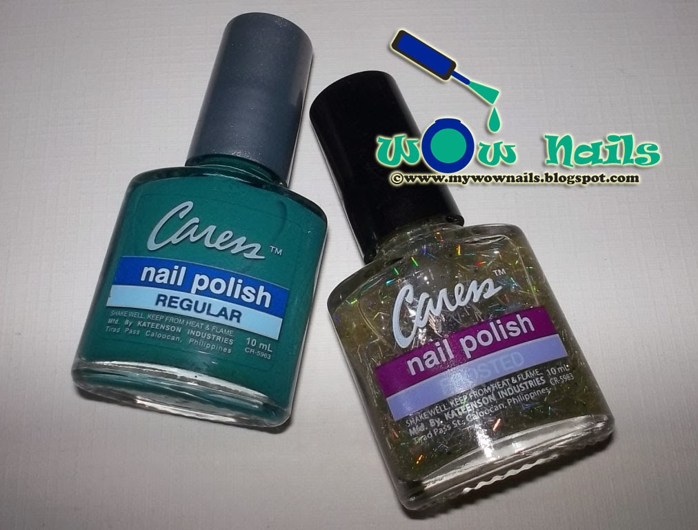 WoW Nails: Caress Oriental Green + Disco Fever Swatches and Review