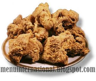 Cara Membuat Ayam Goreng Tepung Manis Pedas