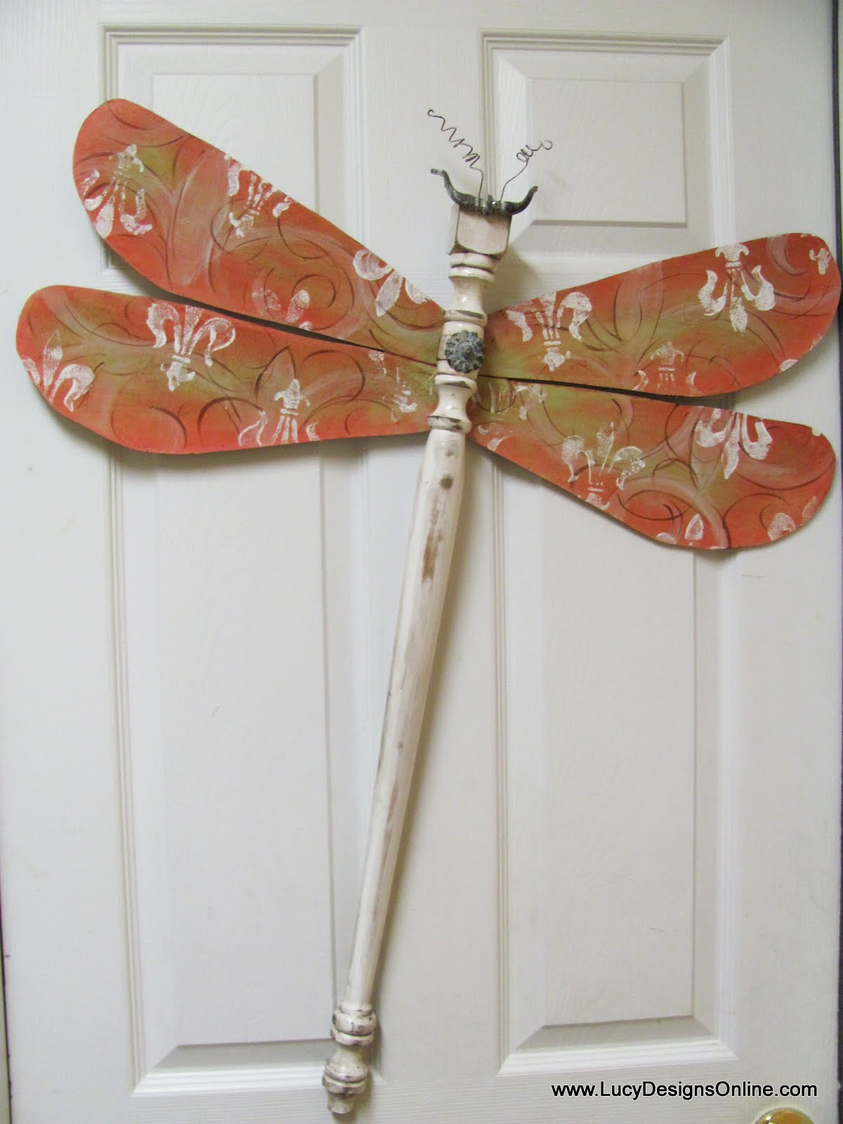 fleur de lis dragonfly