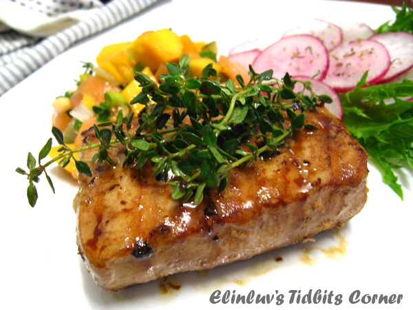 Tidbits Corner: Pan Seared Tuna With Spicy Teriyaki And Lemon Thyme ...