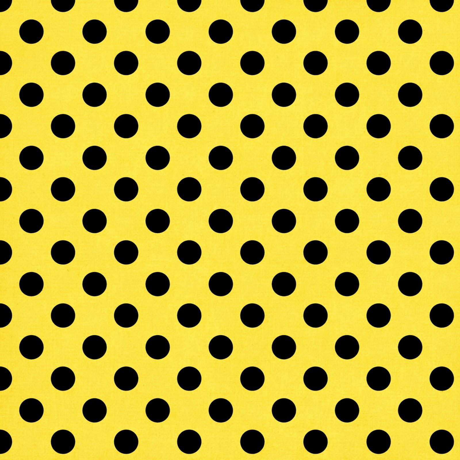 Fondo Amarillo con Lunares Negros Tipo Cómic.