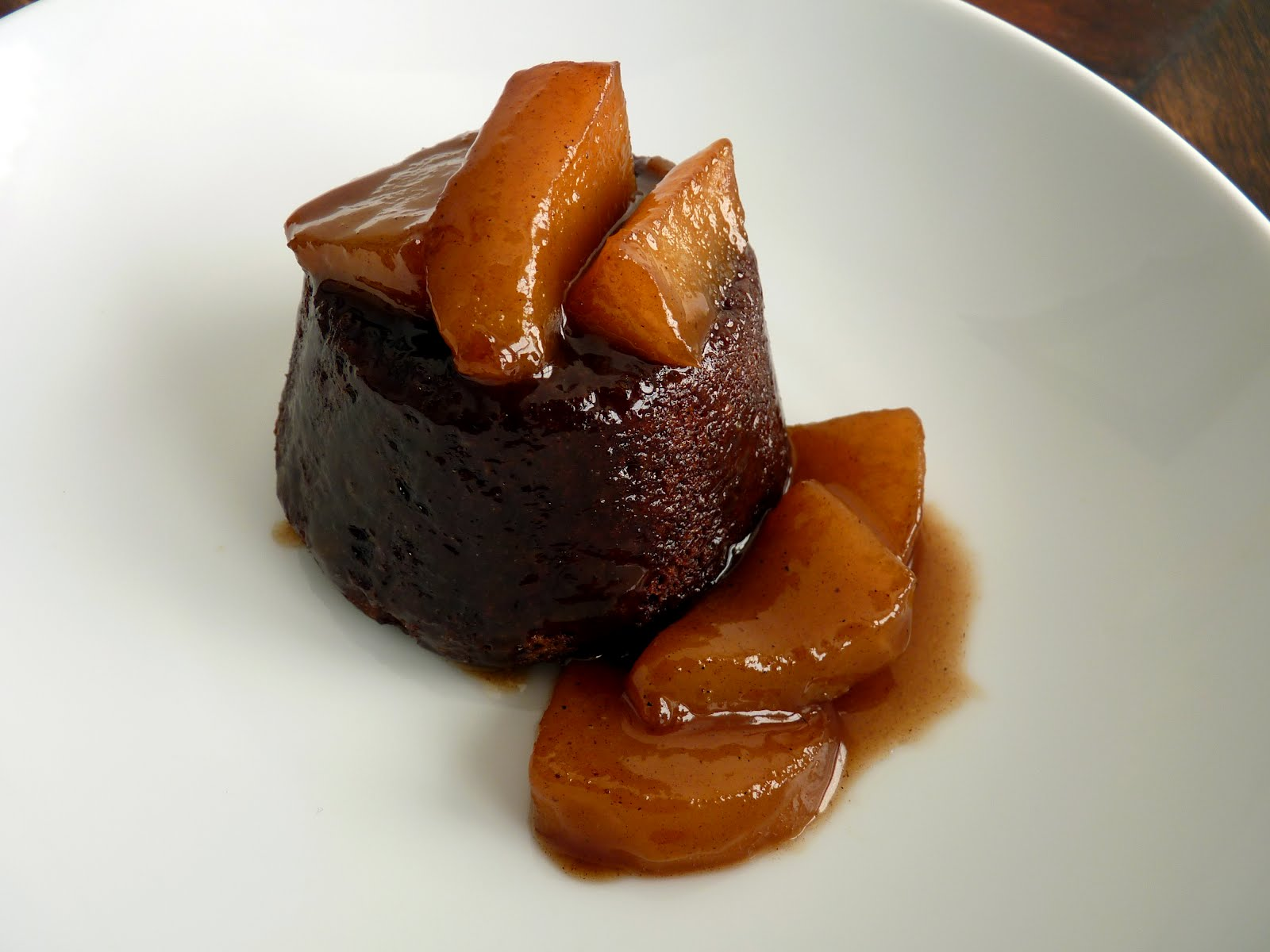chocolate cakes with pears caramel cake adapted from alice medrich