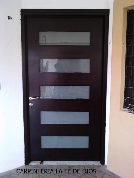Carpinter a la fe de dios puertas principales y de for Modelos de puertas principales en metal