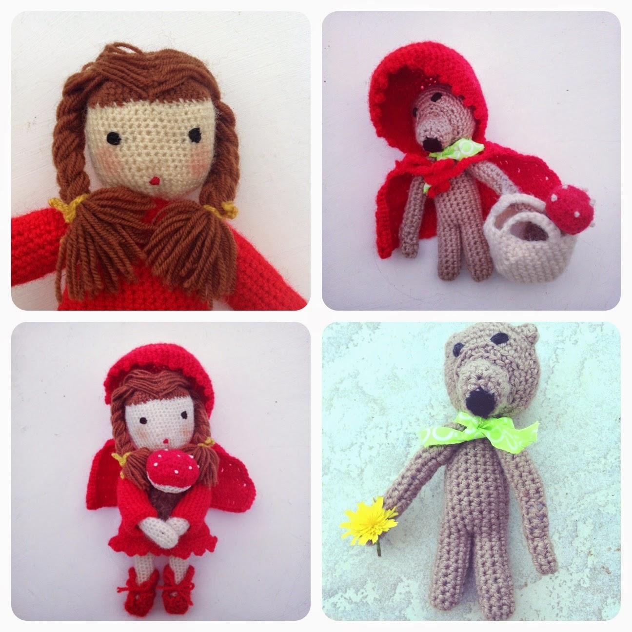 poupée chaperon rouge au crochet