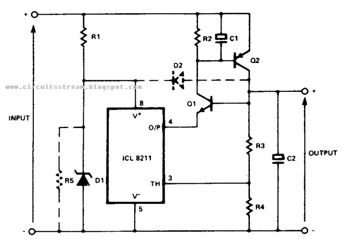 simple positive regulator circuit diagram