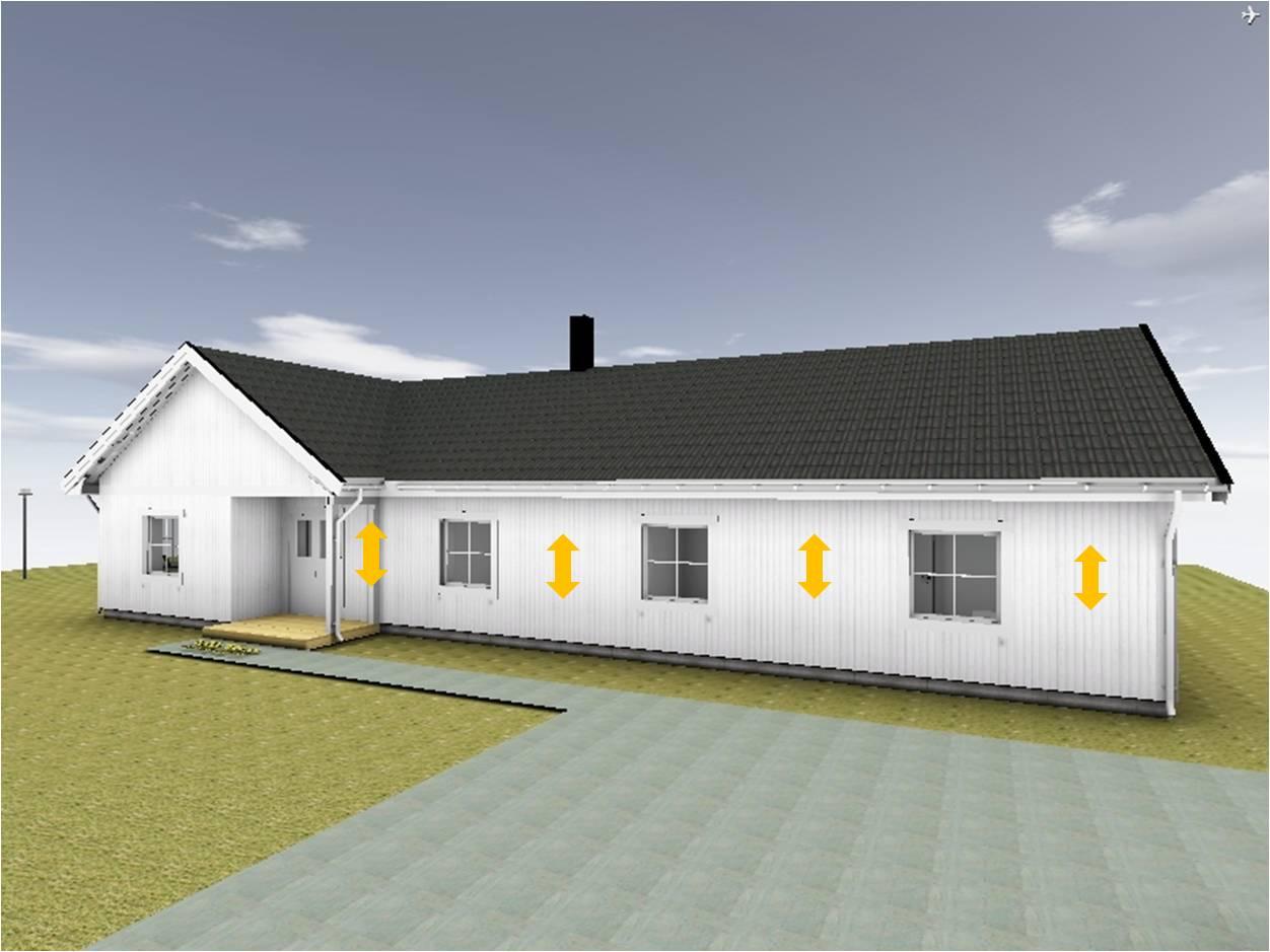 Villa Nystuga Vårt lågenergihus på landet Fasadbelysning