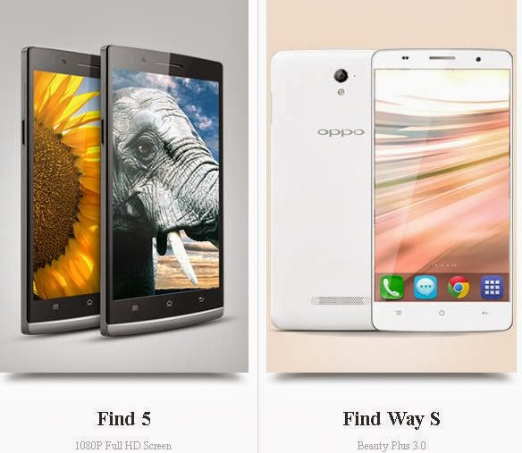 Oppo FInd 5 dan Oppo Find Way S