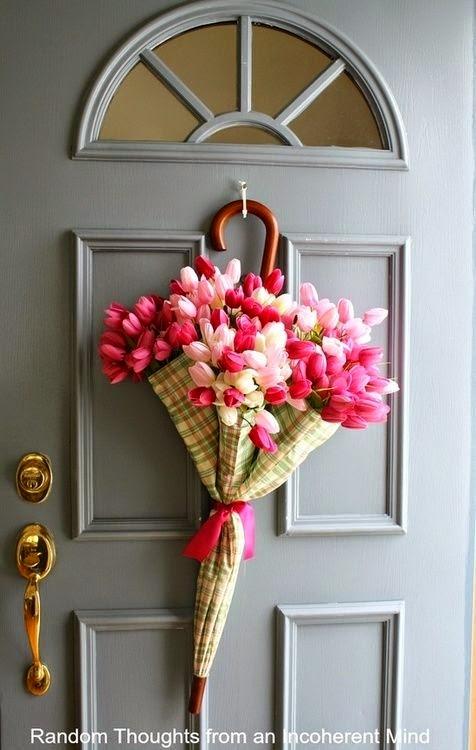 kwiaty w parasolce