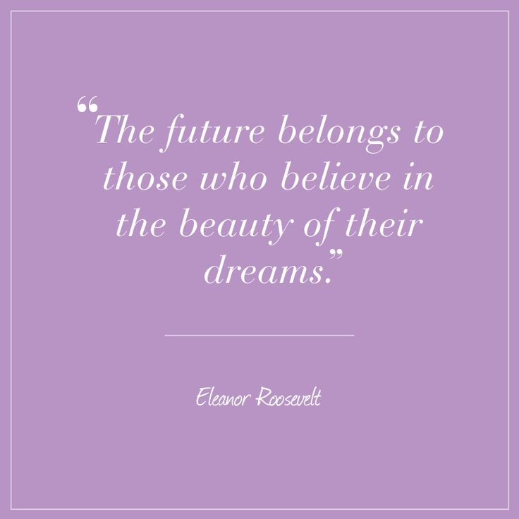 Eleanor Roosevelt quote about life and dreams on Radiant Orchid card