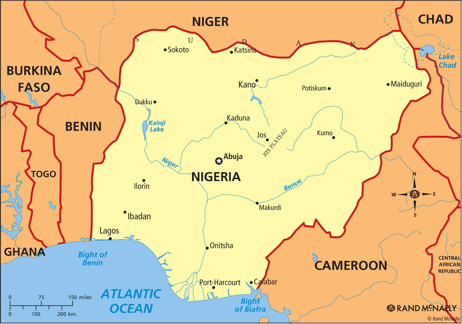 ANTHROPOLOGY OF ACCORD Map On Monday NIGERIA - Nigeria map