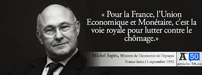 Citation de Michel Sapin pour le oui au traité de Maastricht