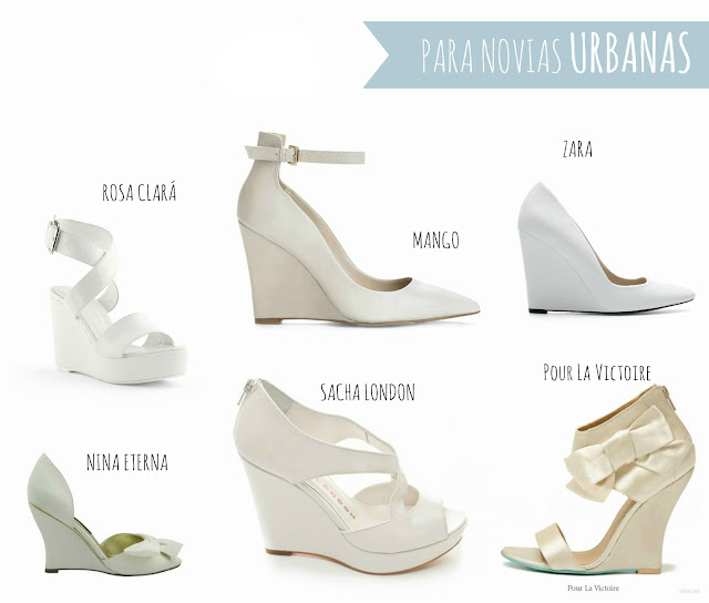cuñas novias zapatos boda wedding shoes