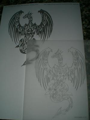 Dibujo en papel cebolla