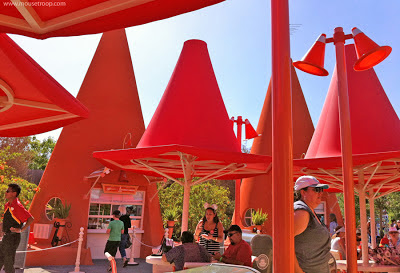Cars Land Carsland Cones DCA Disney California Adventure