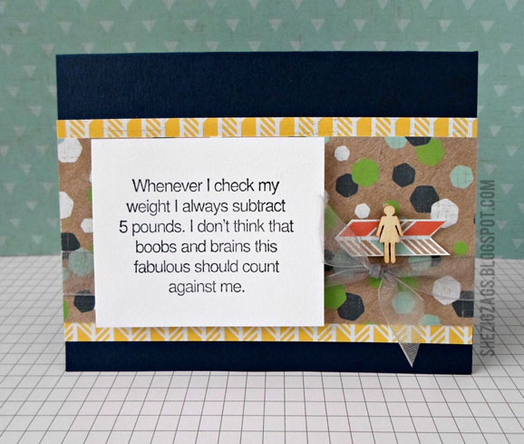 Riley & Co 5 pounds Card by She Zig Zags