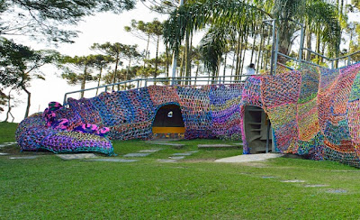 Crocheted Aligator Playground Seen On www.coolpicturegallery.us