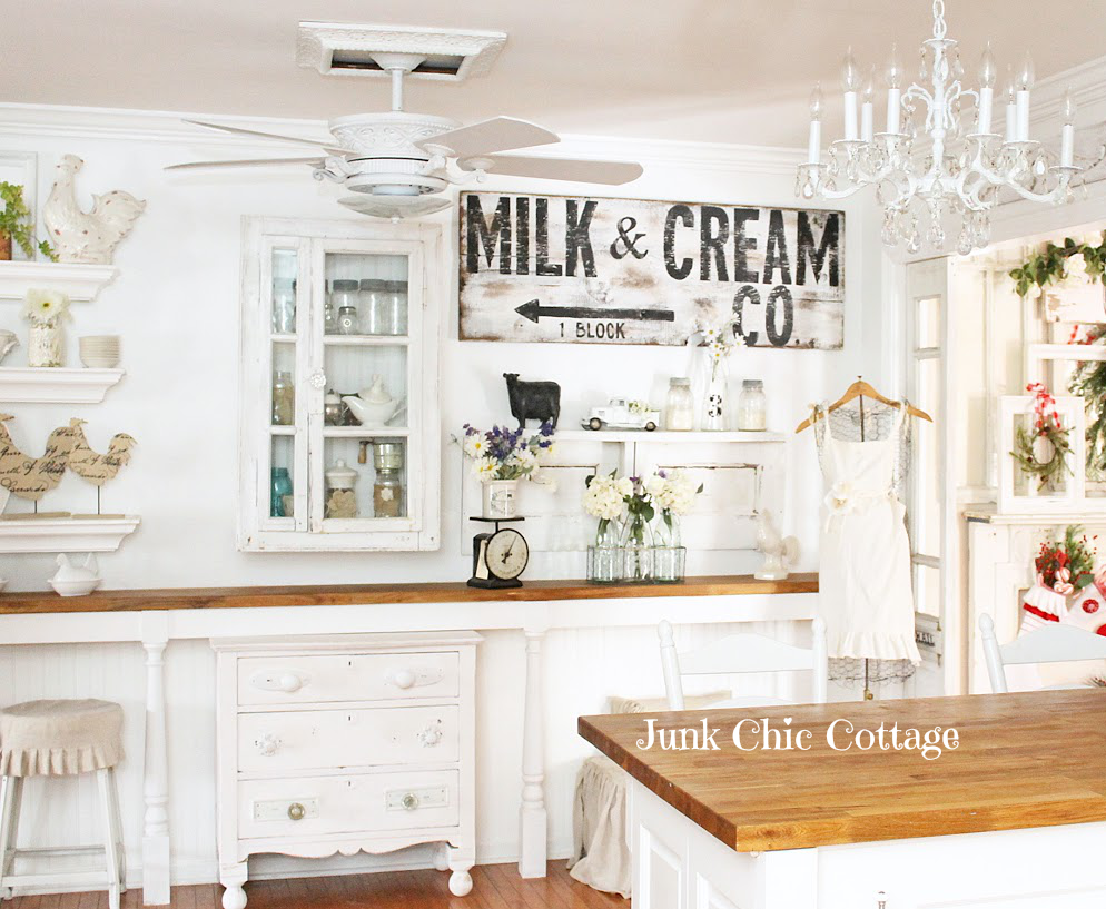 Junk Chic Cottage New Old Cabinet Transformation And