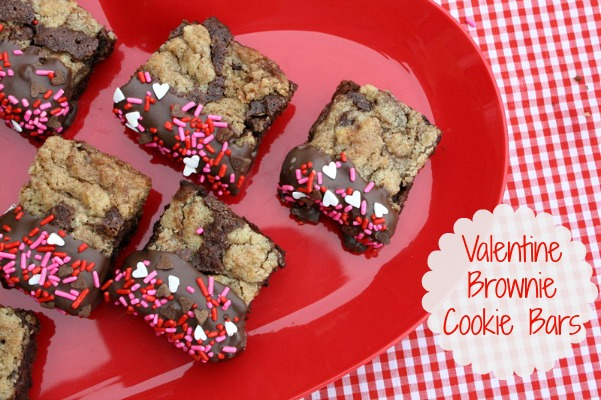 quick easy valentines day teacher treats valentine brownie cookie bars - Homemade Valentine Treats