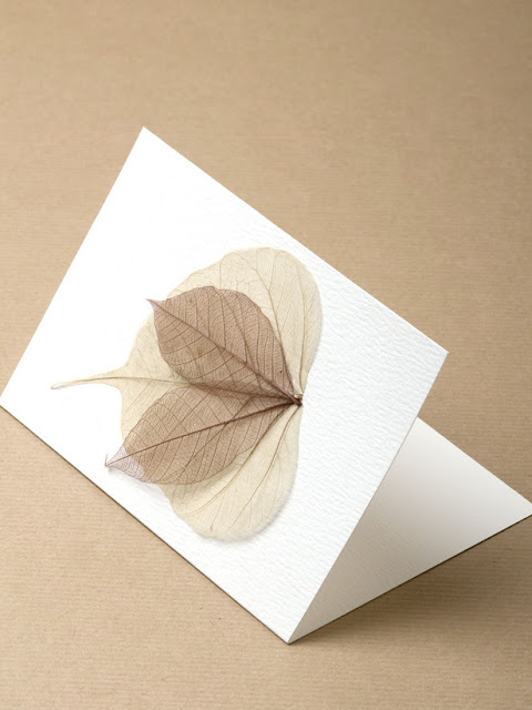Handmade Natural Christmas Cards
