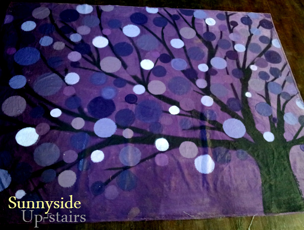 sunnyside up stairs painted canvas floorcloth