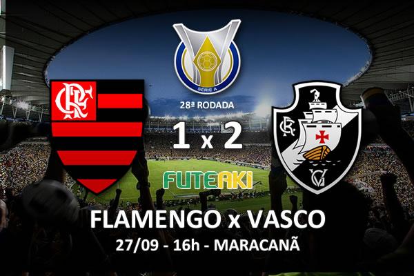 Veja o resumo da partida com os gols e os melhores momentos de Flamengo 1x2 Vasco pela 28ª rodada do Brasileirão 2015.