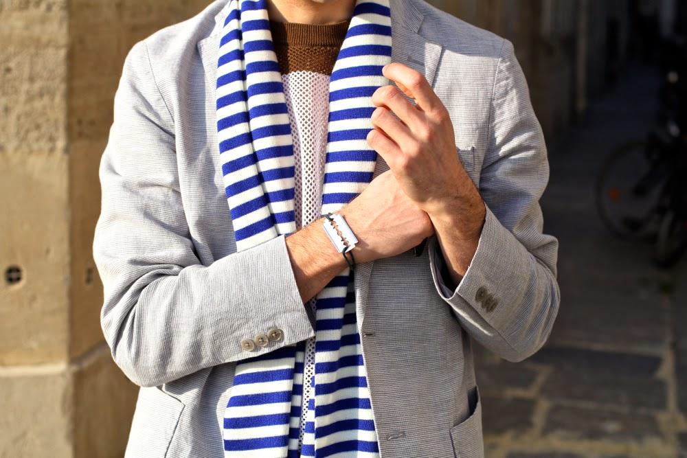 Bracelet dinh van homme lame de rasoir