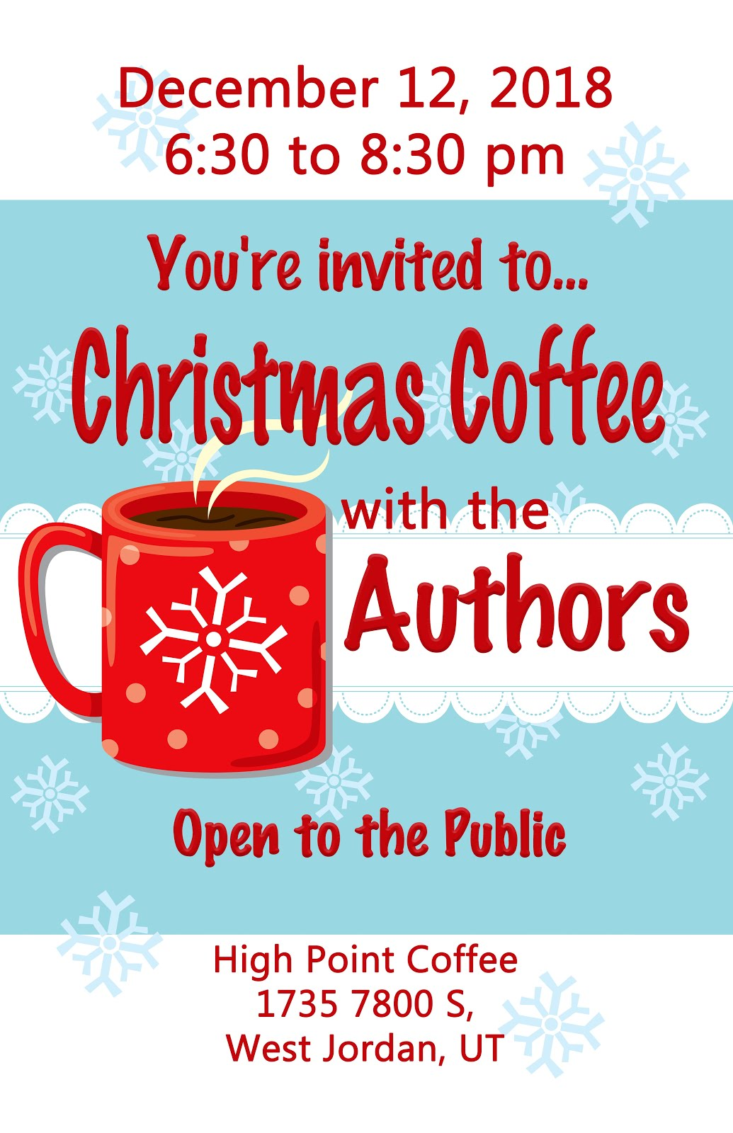 Christmas Coffee with Authors