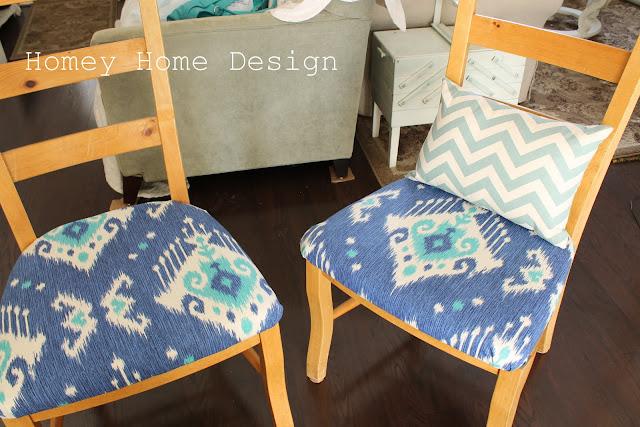 Throw Pillows Outdoor : homey home design: Dining Chair Redo