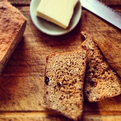 Slices Of No-Knead Spelt Bread