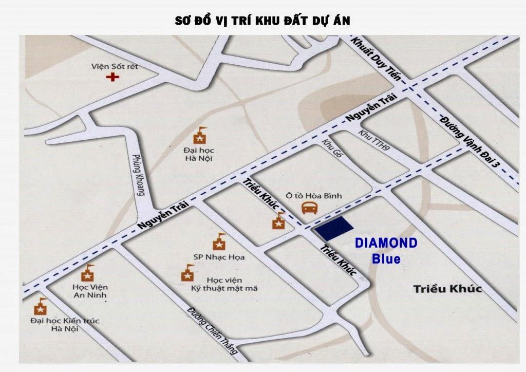 Vị trí Dự án chung cư diamond blue